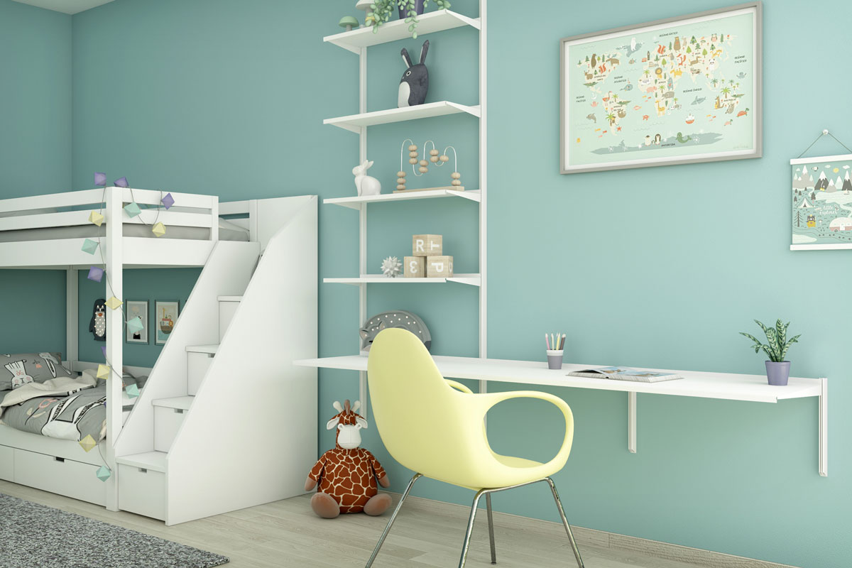 Pallucco Continua bookcase in an kids bedroom