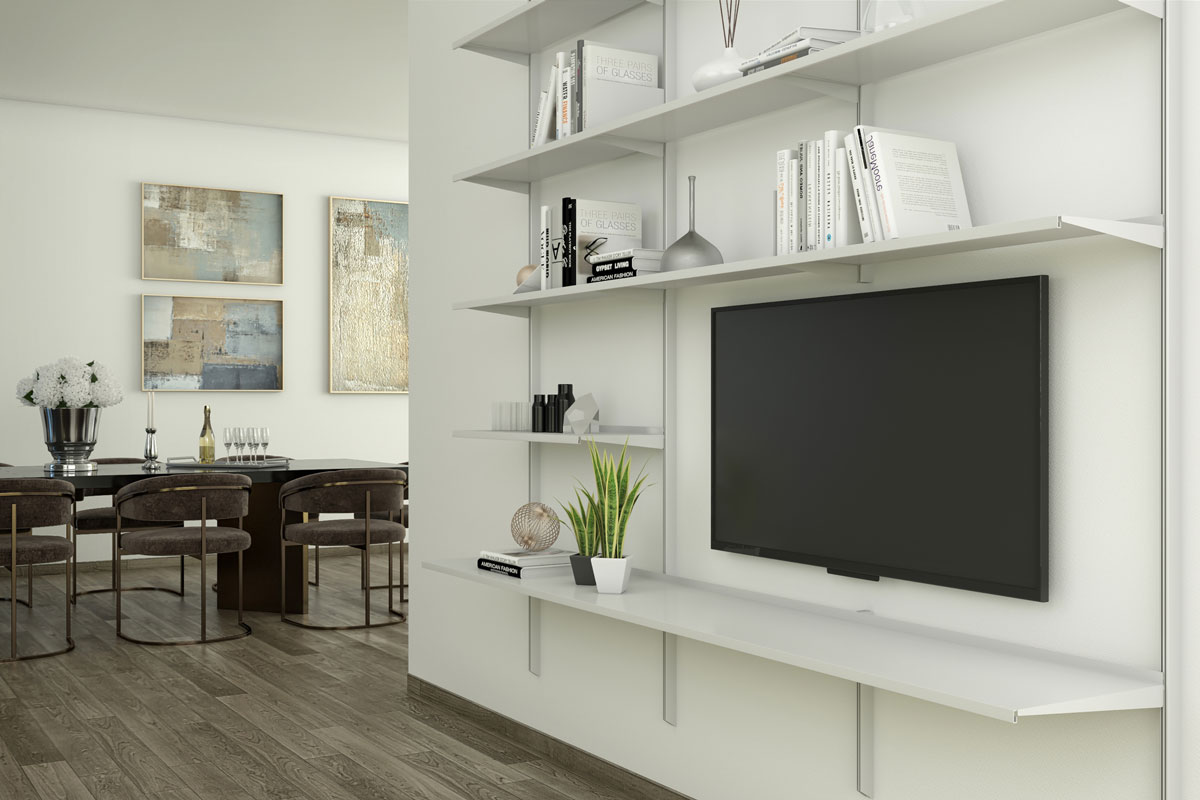 Pallucco Continua bookcase living room