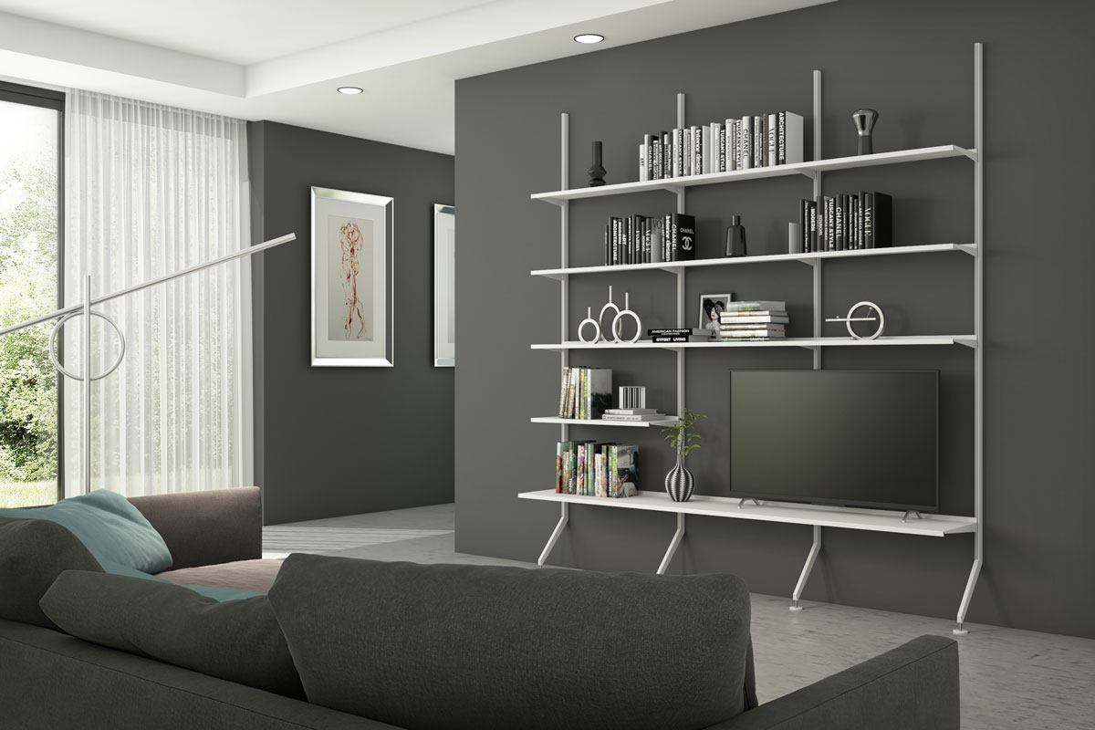 Pallucco Continua bookcase in a living room