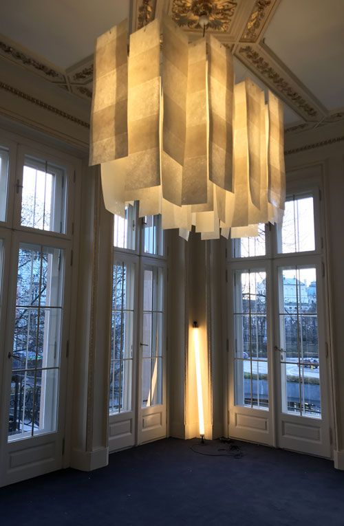 Alexandra and Tube lamps in private office