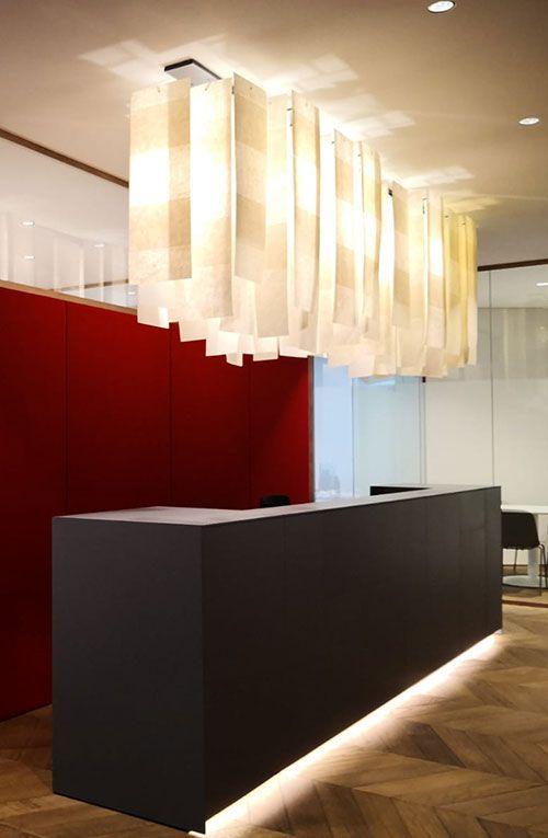 Alexandra long lamp in a studio hall