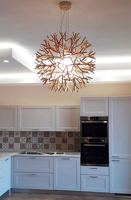Coral lamp in a private residence