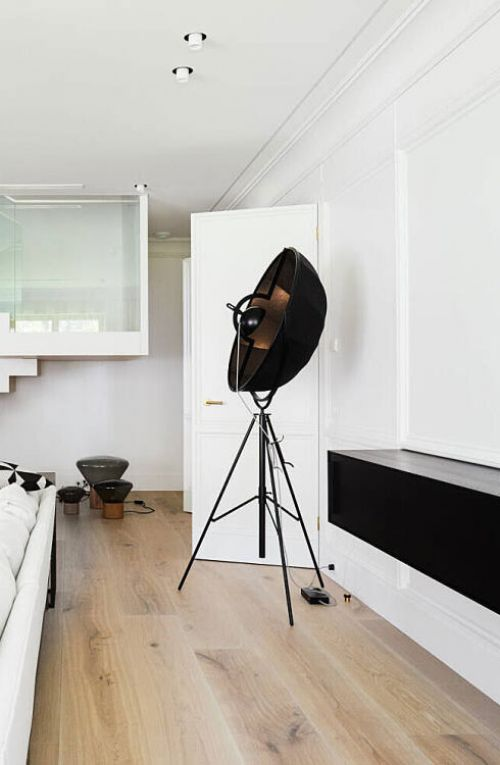 Fortuny lamp at VD11 Apartment by Open Ad for Architecture and Design