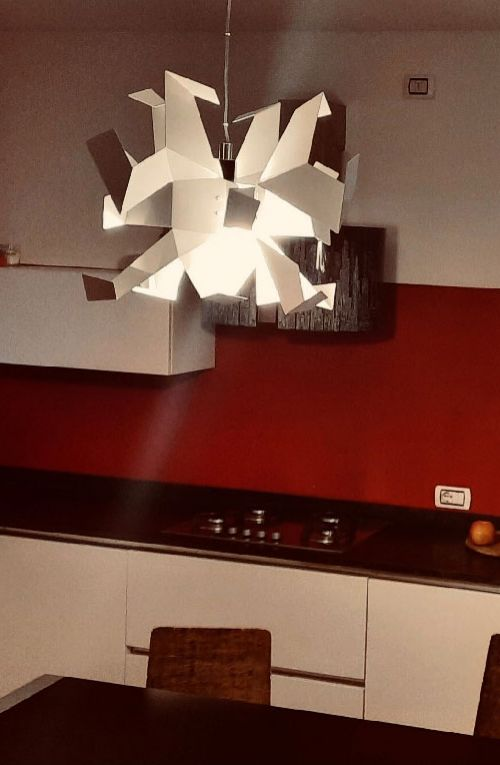 Glow lamp in a private residence