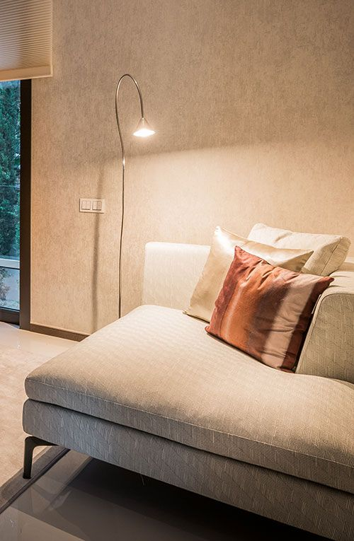 Papiro lamp in private residence by Femont Galvan Designers