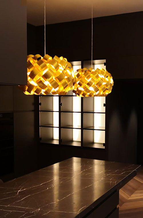Ring Sphere lamp in private residence
