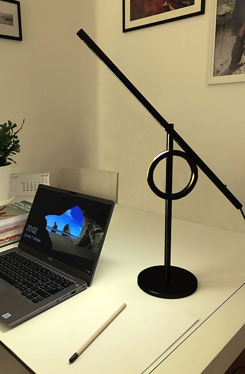 Tangent Mini lamp in a studio