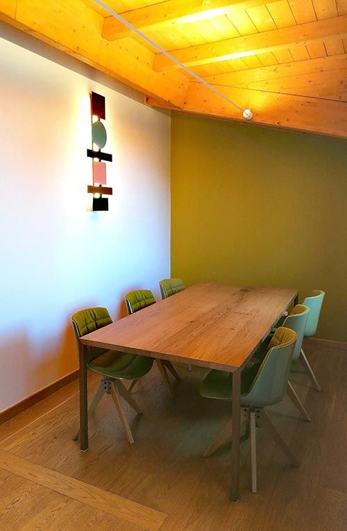 Totem lamp in private residence by Arch. Maria Carmen Castellucci