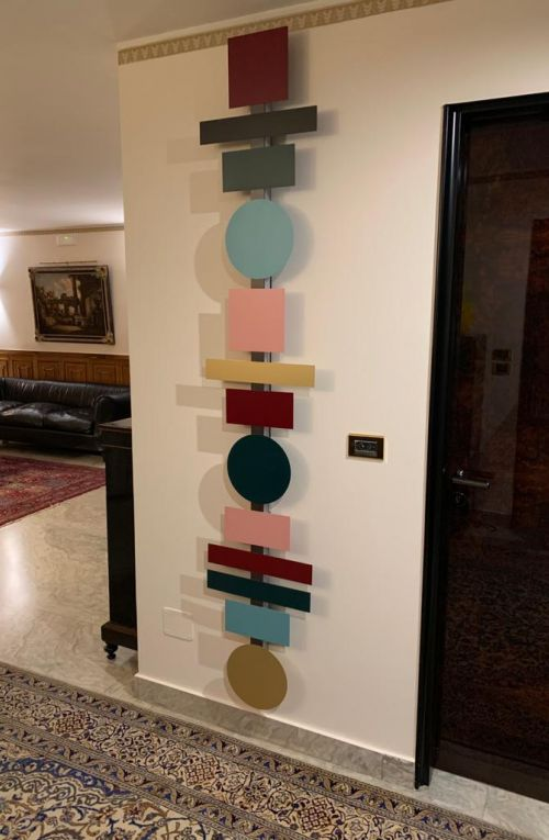 Totem lamp in a private residence